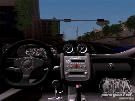 Pagani Zonda C12S Roadster für GTA San Andreas Rückansicht