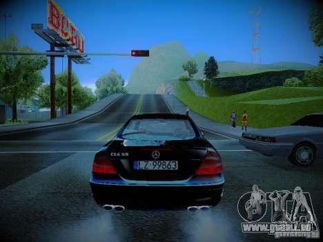 Mercedes-Benz CLK 55 AMG Coupe pour GTA San Andreas sur la vue arrière gauche