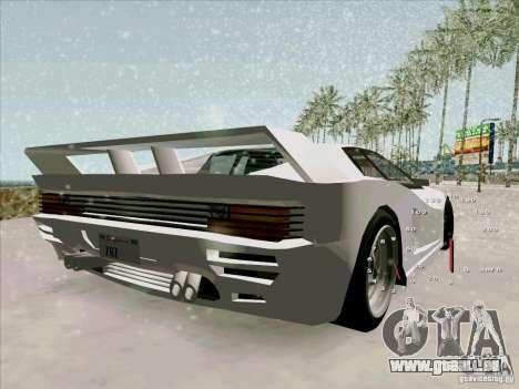 Ferrari Testarossa Custom pour GTA San Andreas laissé vue
