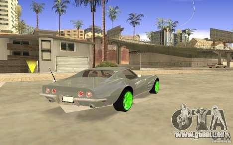 Chevrolet Corvette Stingray Monster Energy pour GTA San Andreas vue arrière