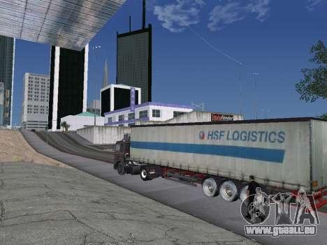 Remorque Schmitz pour GTA San Andreas laissé vue