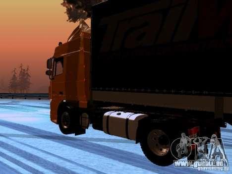 DAF XF105 pour GTA San Andreas vue de droite