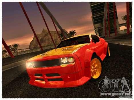 Dodge Challenger Calibri-Ace für GTA San Andreas zurück linke Ansicht