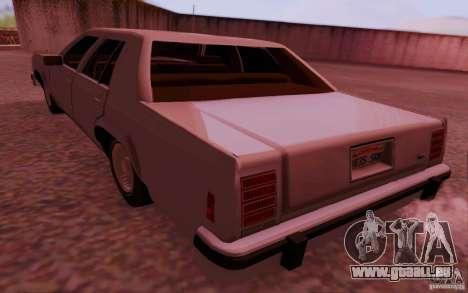 Ford Crown  Victoria LTD 1985 pour GTA San Andreas laissé vue