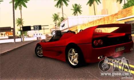 Ferrari F50 Spider pour GTA San Andreas vue de droite