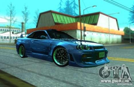 Nissan Skyline GT-R34 für GTA San Andreas linke Ansicht