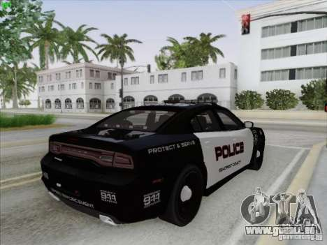 Dodge Charger 2012 Police für GTA San Andreas obere Ansicht