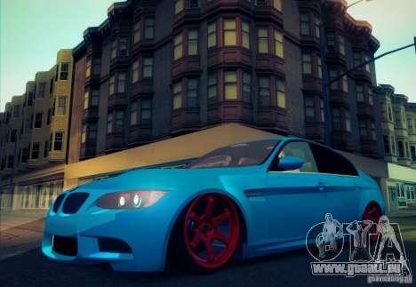 BMW M3 E90 pour GTA San Andreas vue de côté