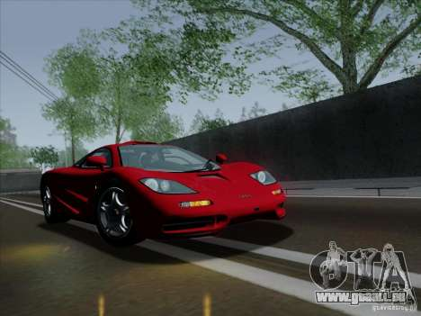 McLaren F1 1994 v1.0.0 pour GTA San Andreas sur la vue arrière gauche