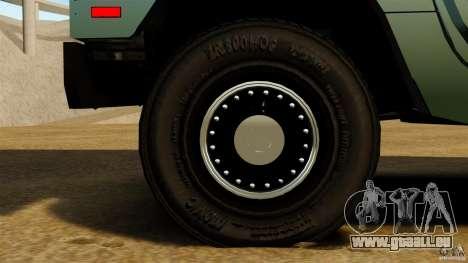 Hummer H1 Alpha pour GTA 4 Vue arrière