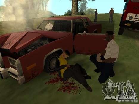 Un horrible accident pour GTA San Andreas troisième écran