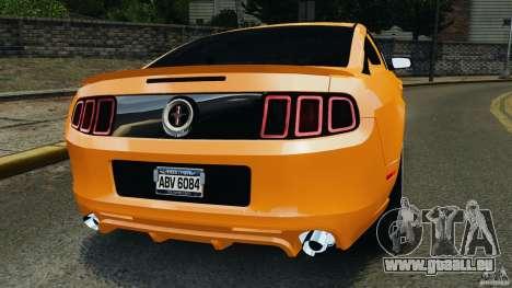 Ford Mustang 2013 Police Edition [ELS] pour GTA 4 Vue arrière de la gauche