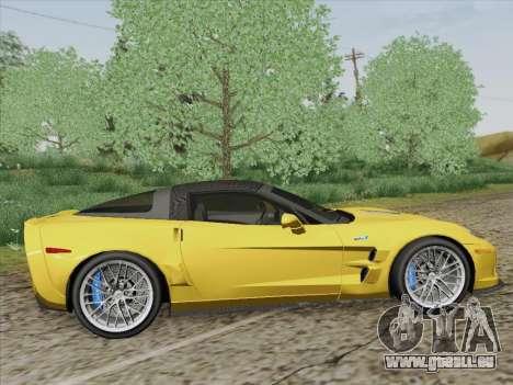 Chevrolet Corvette ZR1 für GTA San Andreas rechten Ansicht