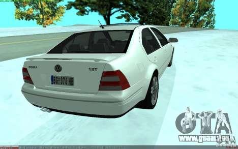 Volkswagen Bora 1.8 pour GTA San Andreas sur la vue arrière gauche