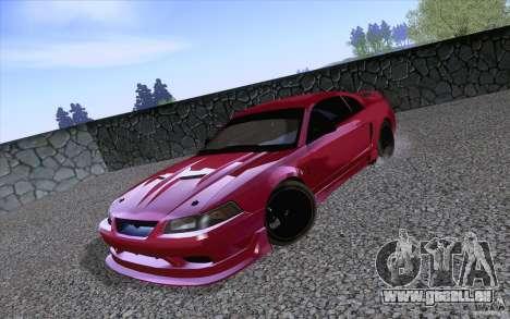 Ford Mustang SVT Cobra 2003 Black wheels pour GTA San Andreas