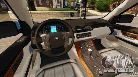 Land Rover Range Rover Sport Supercharged 2010 pour GTA 4 Vue arrière