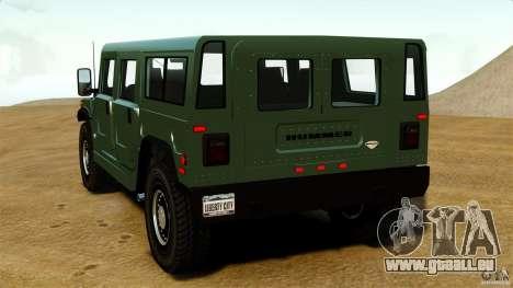 Hummer H1 Alpha pour GTA 4 Vue arrière de la gauche