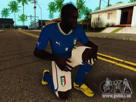 Mario Balotelli v4 pour GTA San Andreas cinquième écran