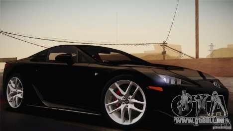 Lexus LFA (US-Spec) 2011 für GTA San Andreas