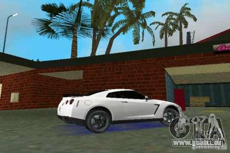 Nissan GT-R Spec V 2010 v1.0 für GTA Vice City zurück linke Ansicht