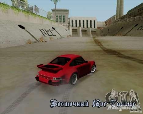 Porsche 911 Turbo pour GTA San Andreas vue intérieure