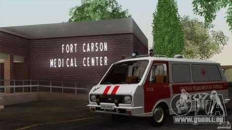 RAF 22031 Latvija ambulance pour GTA San Andreas vue de côté