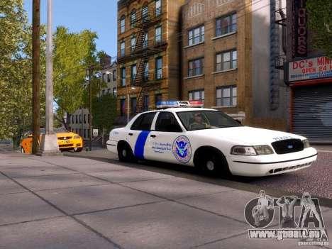 Ford Crown Victoria Homeland Security für GTA 4 hinten links Ansicht