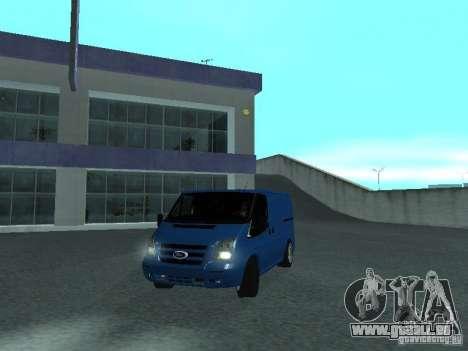 Ford Transit Sport 2011 pour GTA San Andreas sur la vue arrière gauche