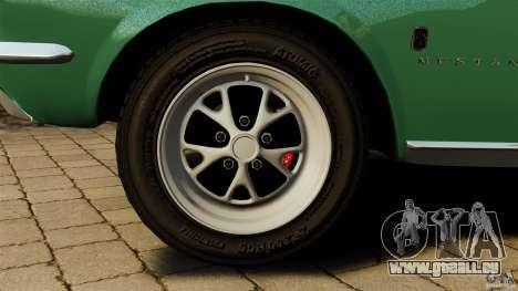 Ford Mustang 1967 pour GTA 4 vue de dessus
