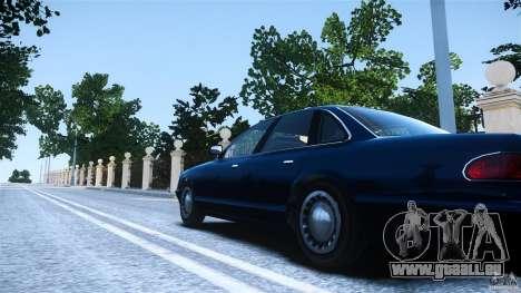 Civilian Taxi - Police - Noose Cruiser pour GTA 4 Vue arrière de la gauche