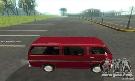 Nissan Caravan E20 pour GTA San Andreas laissé vue