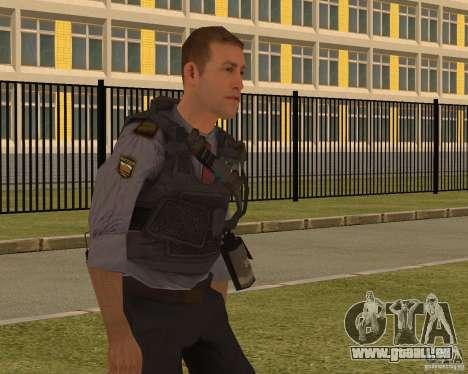 LE MINISTÈRE DES AFFAIRES INTÉRIEURES DE LA RUSS pour GTA San Andreas troisième écran