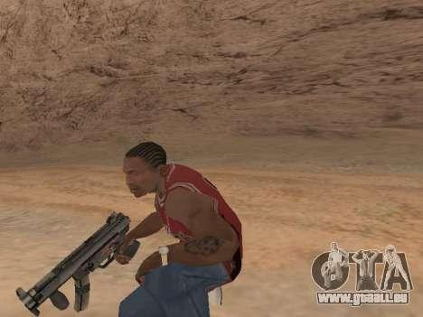 MP5K pour GTA San Andreas troisième écran