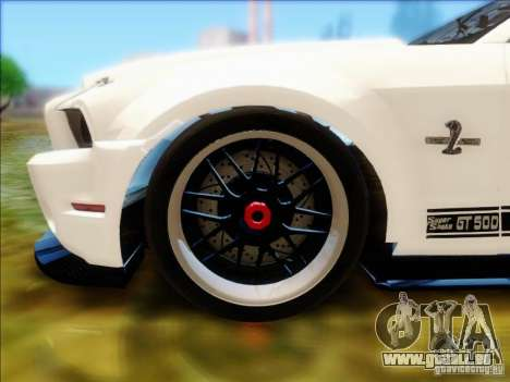 Ford Shelby GT500 SuperSnake NFS The Run Edition pour GTA San Andreas vue de droite