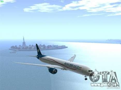 Boeing 787-8 Dreamliner AeroMexico pour GTA San Andreas vue de côté