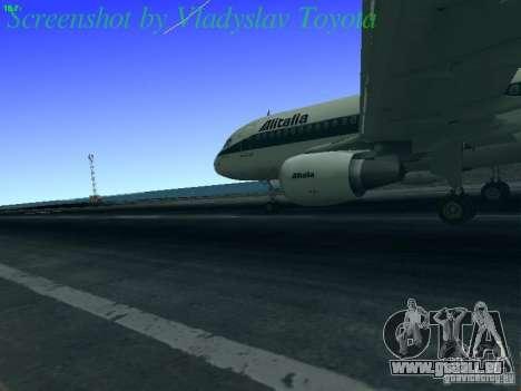 Airbus A320-214 Alitalia v.1.0 pour GTA San Andreas vue arrière
