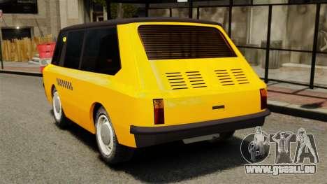Taxi soviétique 1966 pour GTA 4 Vue arrière de la gauche