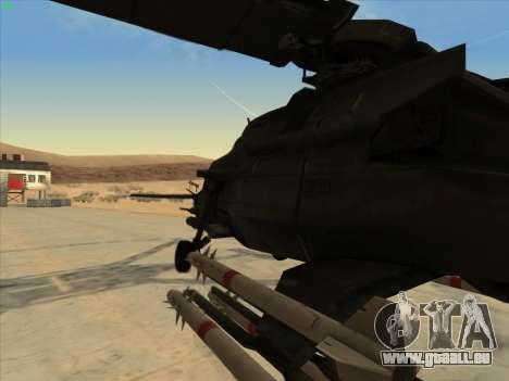 RQ-50 Hammerhead pour GTA San Andreas sur la vue arrière gauche
