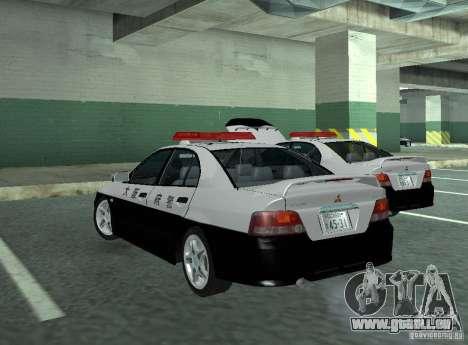 Mitsubishi Galant Police pour GTA San Andreas sur la vue arrière gauche