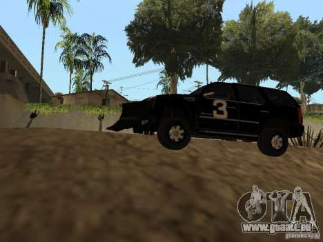 Cadillac Escalade Tallahassee pour GTA San Andreas vue arrière