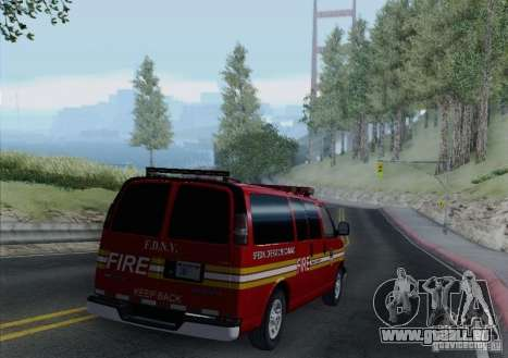 Chevrolet Express Special Operations Command für GTA San Andreas Seitenansicht
