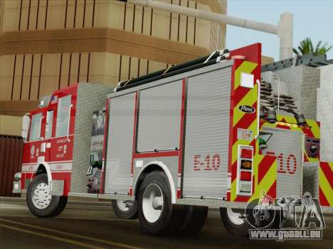 Pierce Saber LAFD Engine 10 für GTA San Andreas obere Ansicht