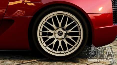 Lexus LFA 2012 Nurburgring Edition pour GTA 4 est un côté