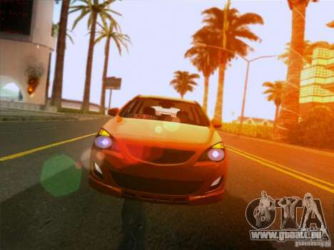 Opel Astra Senner Lower Project pour GTA San Andreas vue arrière
