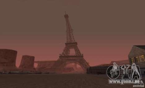 La tour Eiffel depuis Call of Duty : Modern Warf pour GTA San Andreas deuxième écran