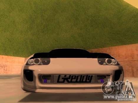 Toyota Supra GTS pour GTA San Andreas vue arrière