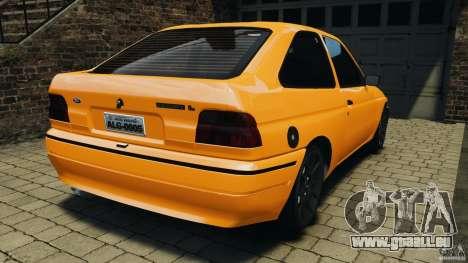 Ford Escort L 1994 Custom pour GTA 4 Vue arrière de la gauche