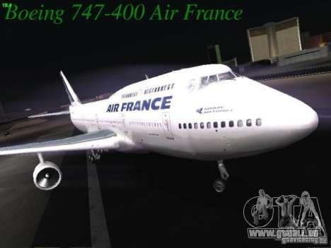 Boeing 747-400 Air France für GTA San Andreas