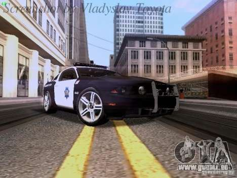 Ford Mustang GT 2011 Police Enforcement pour GTA San Andreas laissé vue