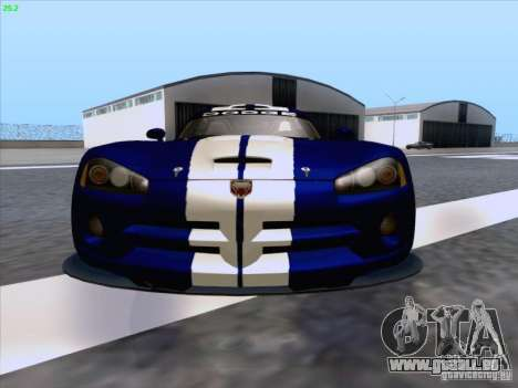 Dodge Viper GTS-R Concept pour GTA San Andreas vue de dessous